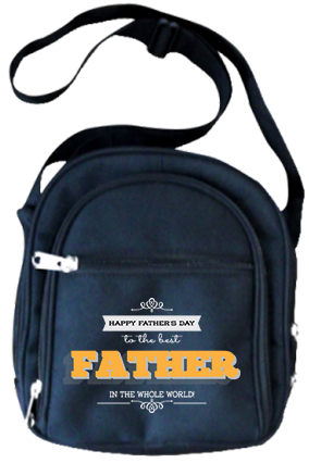 Happy Fathers Day Sling Bags