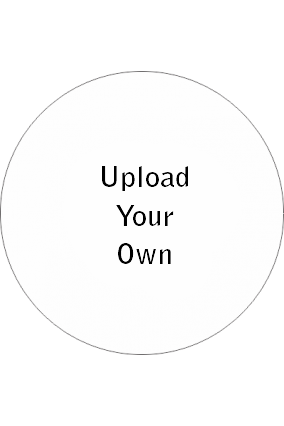 Upload Your Own Large stickers- Circular