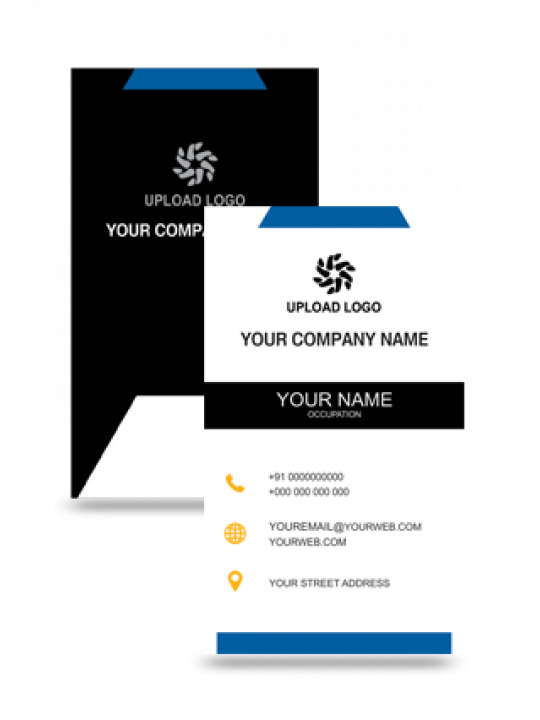 Personalised Eye Catchy Vertical Business Card