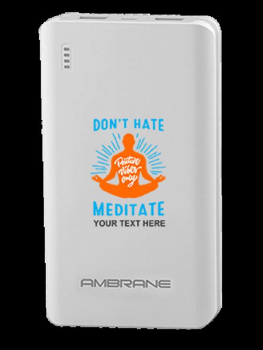 Just Meditate Ambrane PP-2000 -20000mAh Power Bank White