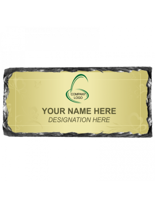 Elegant Green Rock Name Plate