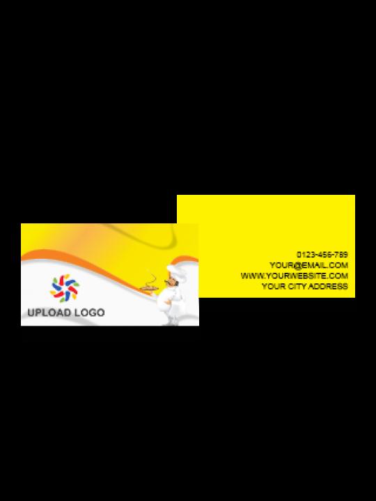 Business Card | Orange Stipes Card