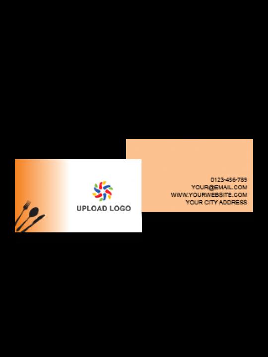 Business Card | Orange Fountain Card