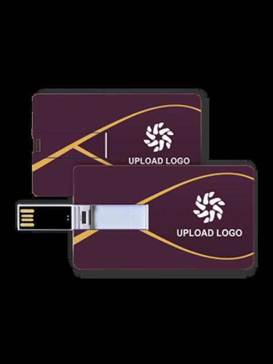 Purple Credit Card Pen Drive (8, 16, 32  GB)