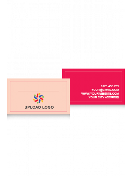 Business Card | Red Border Card