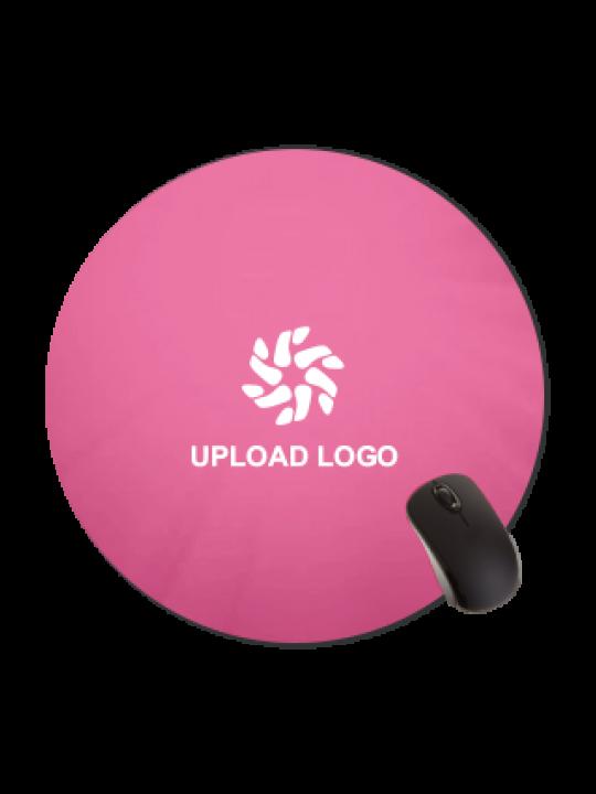 Premium Pink Color Round Mousepad