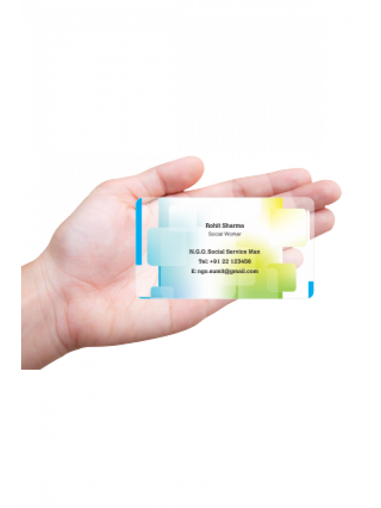 Skillful N.G.O Transparent Business card