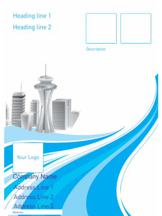 Corporate Blue Architect Poster