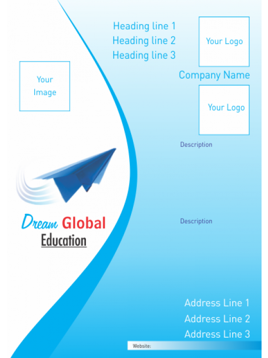 Blue Education Industry Poster