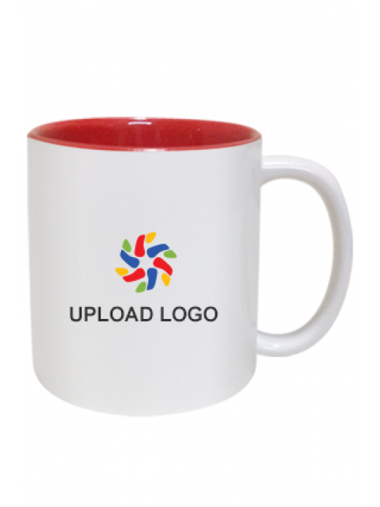 Upload Logo Inside Red Mug