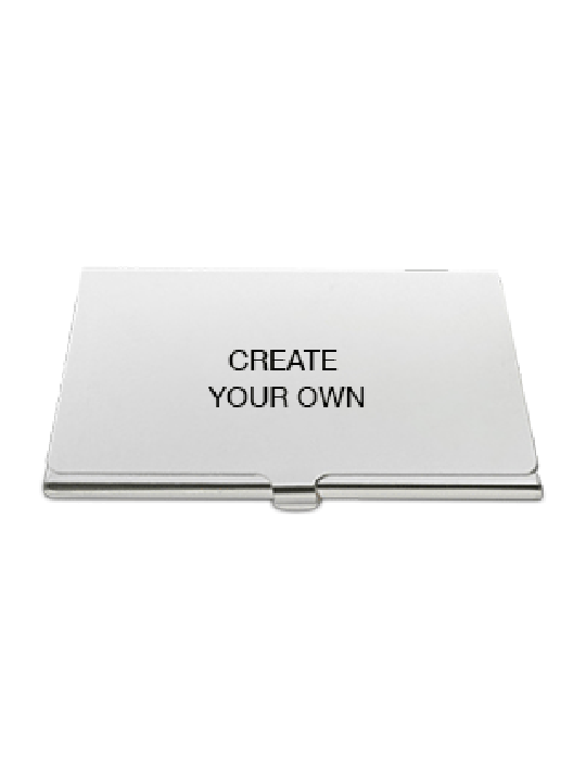 Create Your Own Metal Card Holder