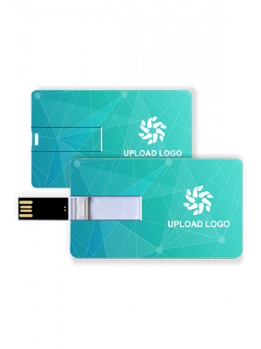 Light Green Credit Card Pen Drive (8, 16, 32 GB)