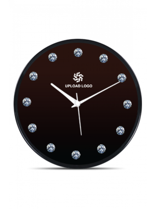 Cool Black Frame Clock With Artificial Diamonds