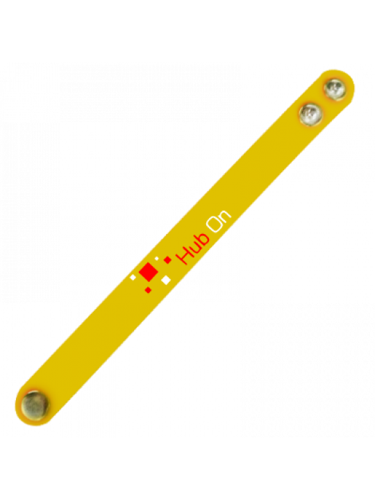 Square-On Yellow Wrist Band