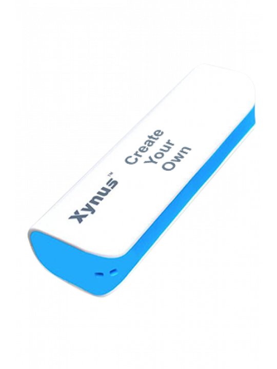 Customize Design Your Own 2600mAh Xynus Power Bank Blue