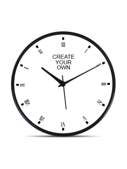 Create Your Own Black Frame Wall Clock