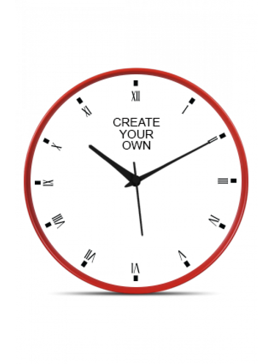 Create Your Own Red Frame Wall Clock
