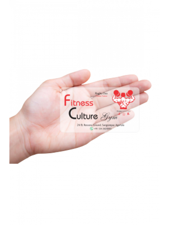 The Marked Fitness Transparent Business card