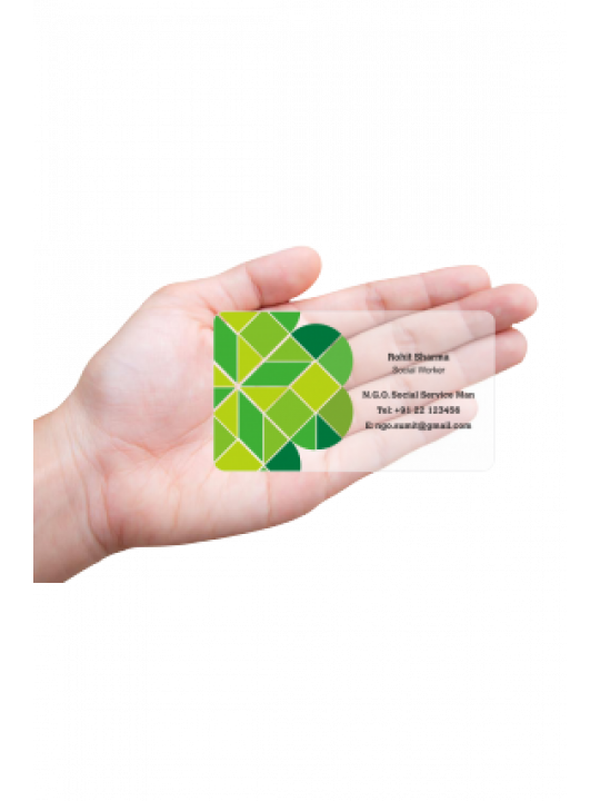 Noteworthy N.G.O Transparent Business card