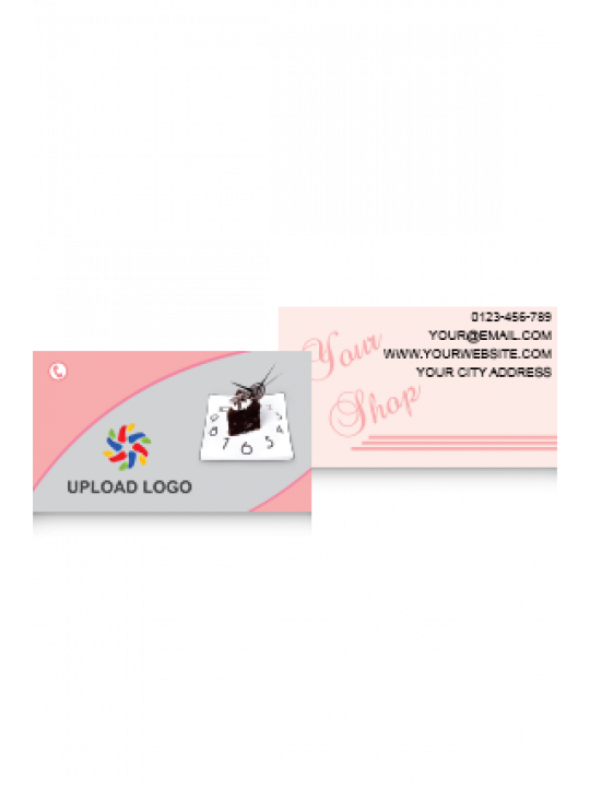Pink & Gray Color Card