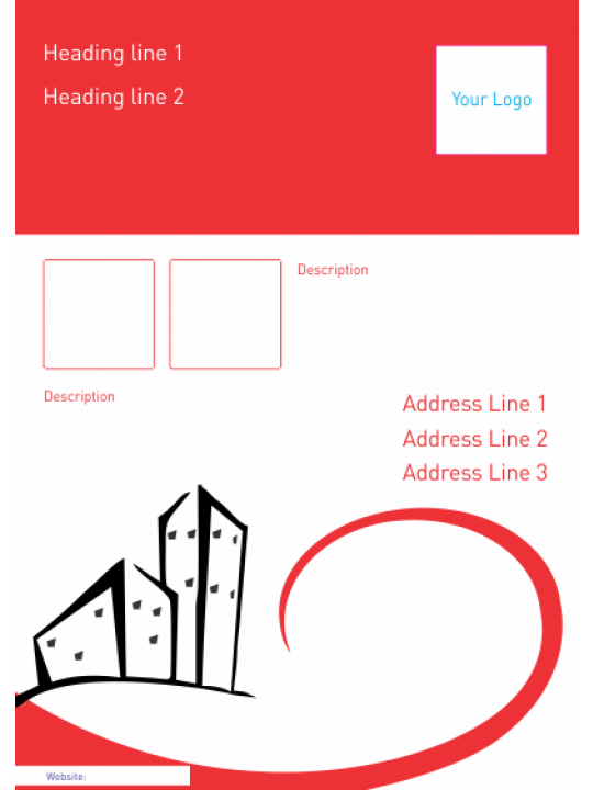 Red White Architect Poster