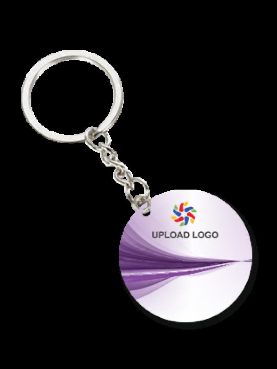 Customized Purple Round Key Chian
