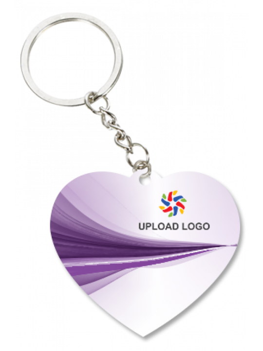 Promotional Purple Heart Key Chain