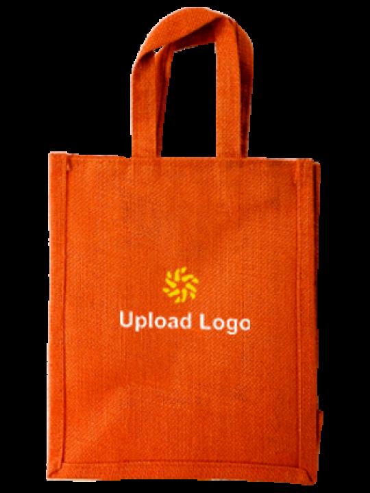 Upload Logo Jute Bottle Bag 02