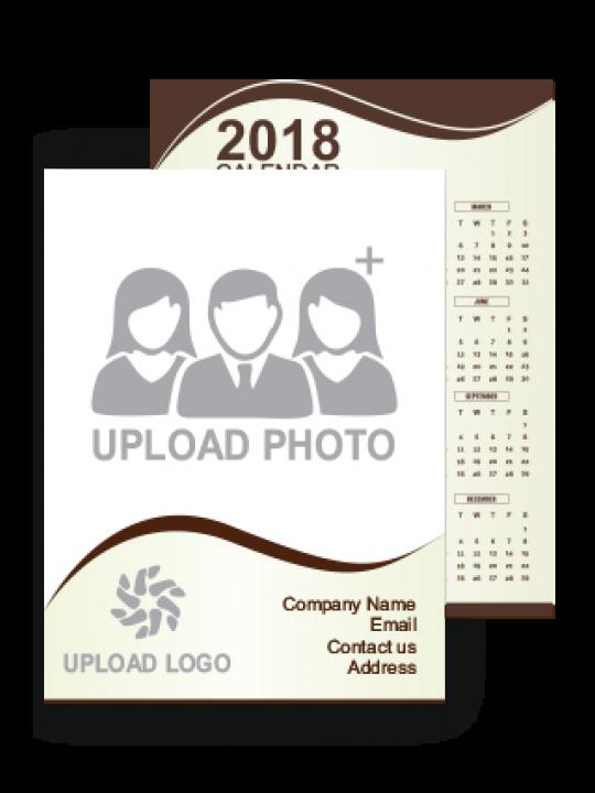 Soothing Business Pocket Calendar