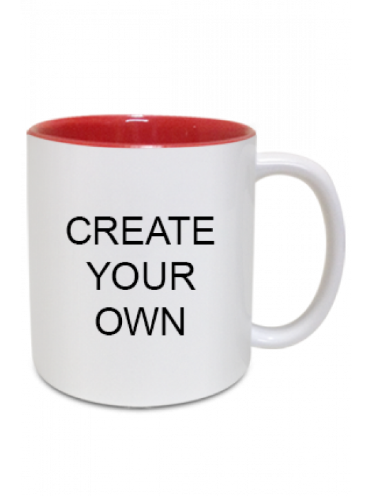 Design Your Own Inside Red Mug