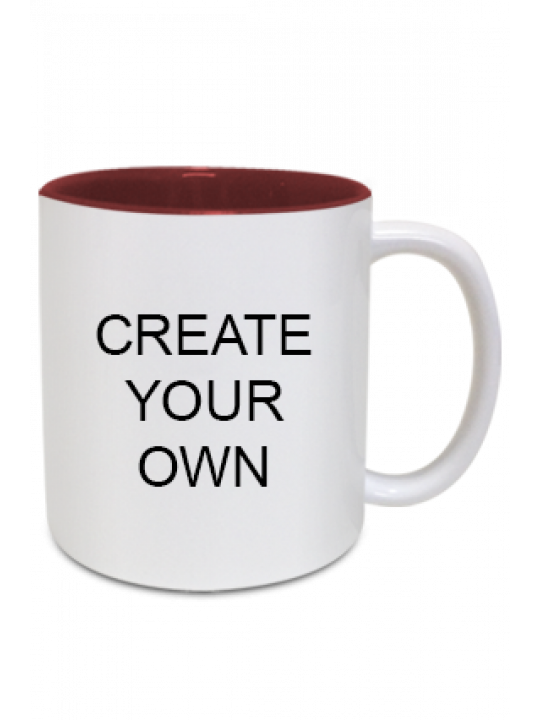 Design Your Own Inside Maroon Mug