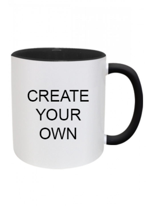 Design Your Own Inside Black Mug With Black Handle
