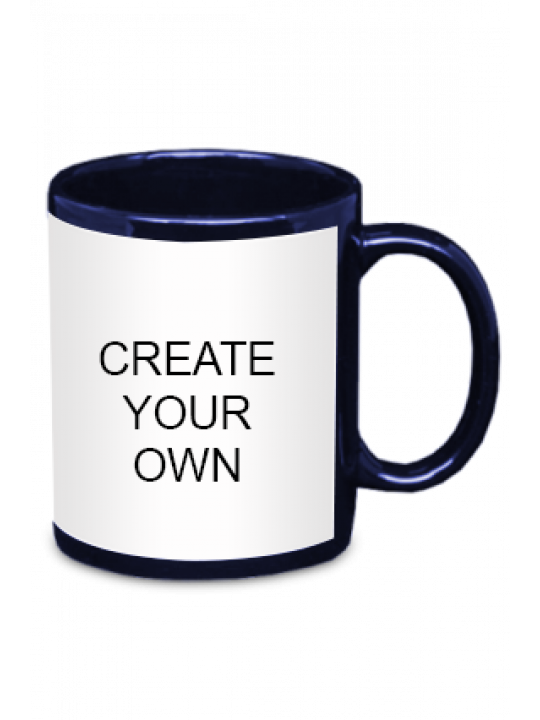 Create Your Own Blue Patch Mug