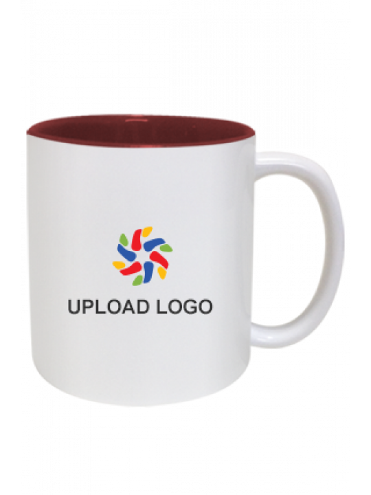 Customized Inside Maroon Mug