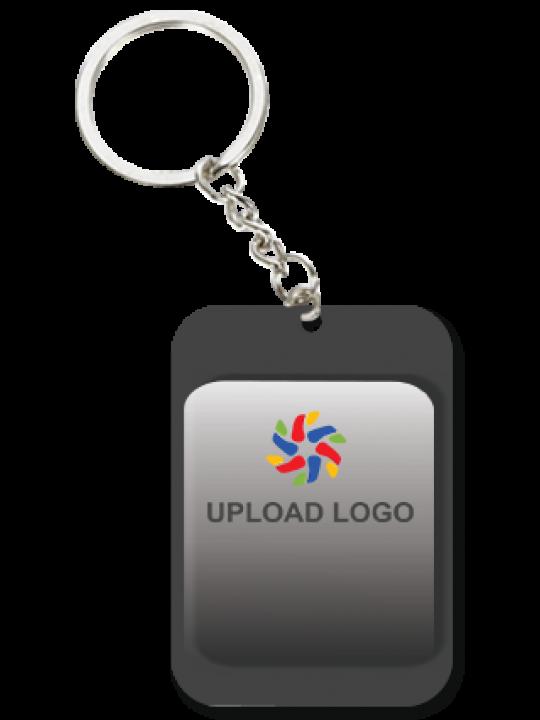 Promotional  Grayscale Big Rectangular Key Chain