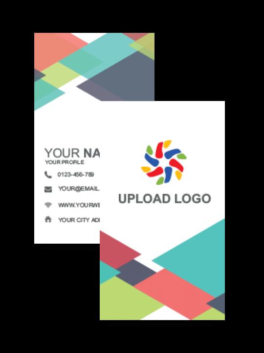 Multi Color Vertical Business Card