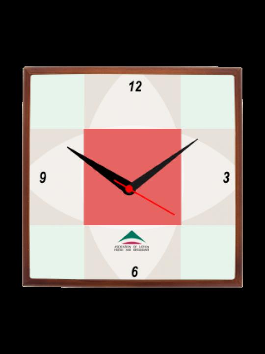 Cool Pink Wooden Clock