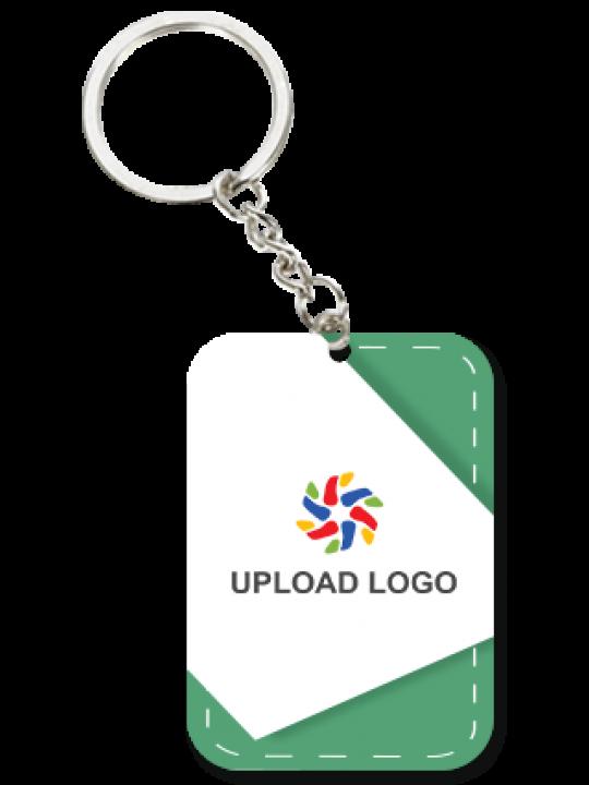 Promotional Green Big Rectangular Key Chain