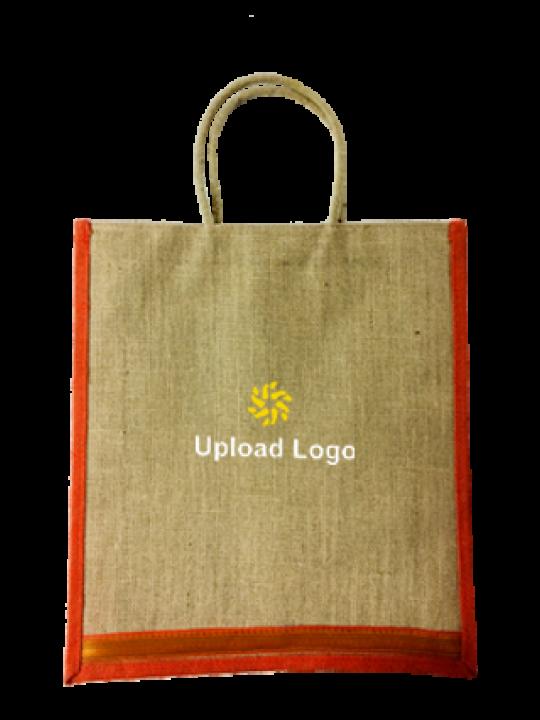 Upload Logo Jute Bottle Bag 04