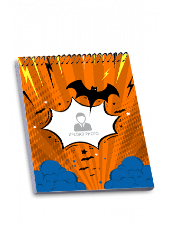 Flying Bat Personalized Top Spiral Notepad