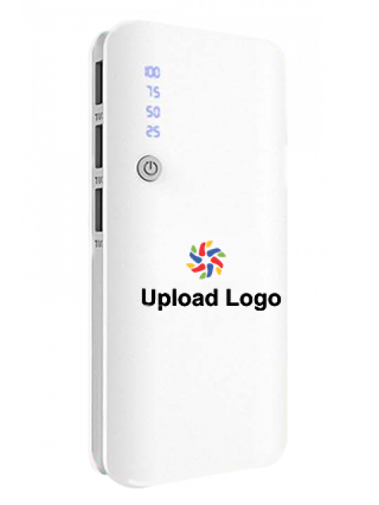 Promotional Upload Logo 11000mAh Power Bank White