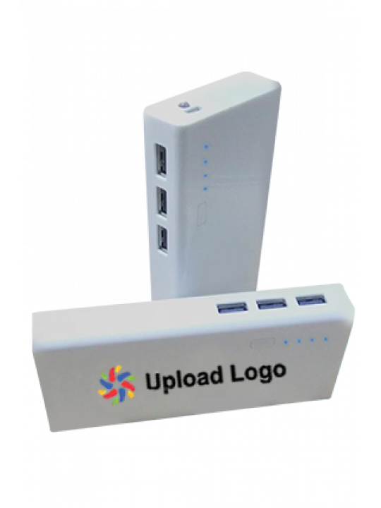 Upload Logo 11000mAh Power Bank White