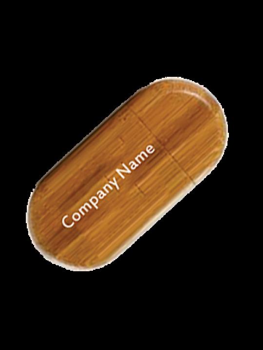 Custom Wooden Oval Pen Drive