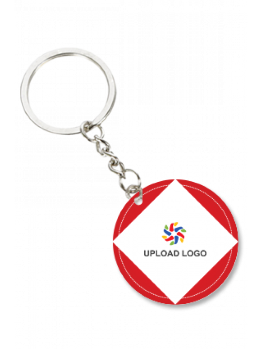 Business Red Round Key Chian