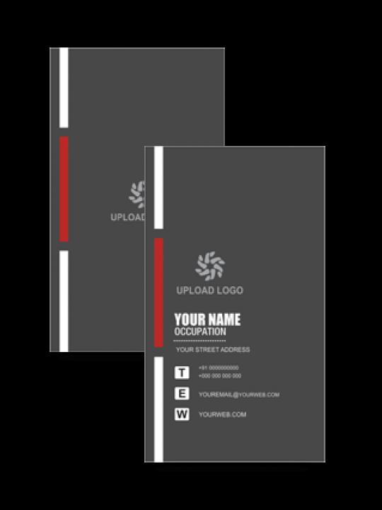 Custom Black Colored Vertical Business Card