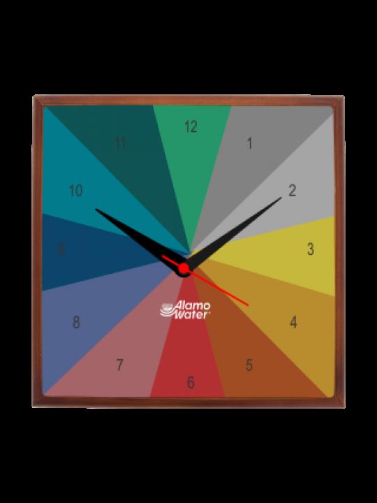 Multi Colored Wooden Clock