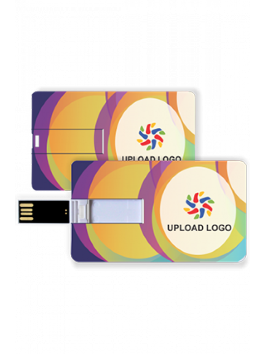 Promotional Mixed Colors Credit Card Pen Drive (8, 16 GB)