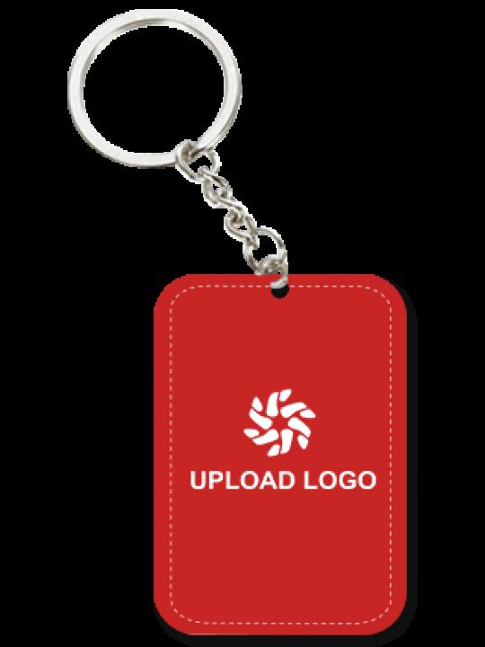 Custom Red Big Rectangular Key Chain