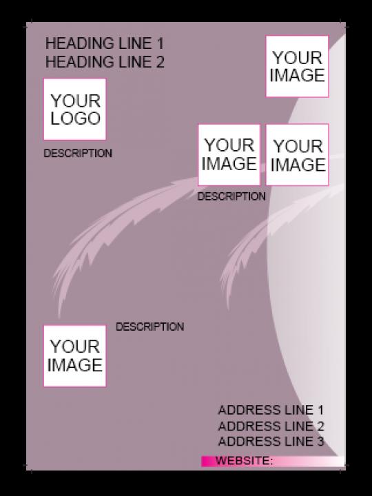 Soft Purple Color Flyer