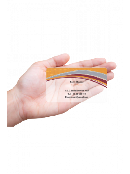 Professional N.G.O Transparent Business card